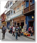 Colombia Streets Metal Print