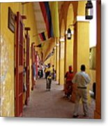 Colombia Walkway Metal Print
