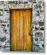 Colonia Old Door Metal Print