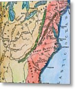 Colonial America Map Metal Print