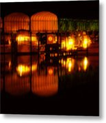 Colonial Beach Docks After Dark Metal Print