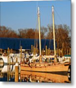 Colonial Beach Docks Metal Print