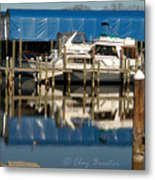 Colonial Beach Marina Metal Print