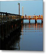 Colonial Beach Town Pier Metal Print