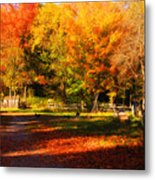 Colonial Fall Colors Metal Print