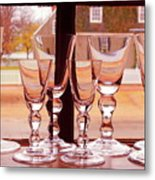Colonial Glassware Metal Print