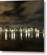 Colonial Lake At Night Metal Print