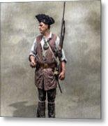 Colonial Militia Soldier 1777 Metal Print