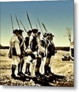 Colonial Soldiers Standing At Attention Metal Print