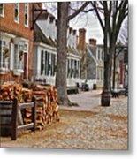 Colonial Street Scene Metal Print
