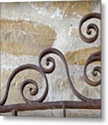 Colonial Wrought Iron Gate Detail Metal Print