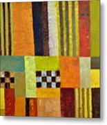 Color And Pattern Abstract Metal Print