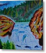 Color At The Firehole Metal Print