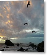 Color Burst Sunset Metal Print