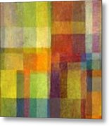 Color Collage With Green And Red 2.0 Metal Print by Michelle Calkins