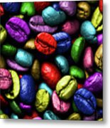 Color Full Coffe Beans Metal Print