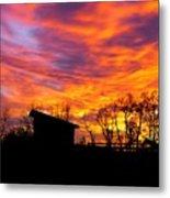 Color In The Sky Metal Print