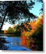 Color Leak Metal Print