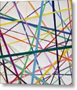 Color Lines Variety Metal Print