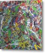 Color Map From The Sky And Ice Figure  Metal Print
