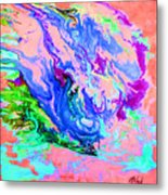 Color Me Blue Metal Print