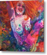 Color Me Mardi Gras Metal Print
