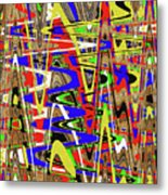 Color Mix Fun Abstract Metal Print