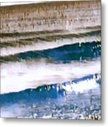 Color Movement-blue And Beige Metal Print