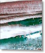 Color Movement-turquoise And Red Metal Print
