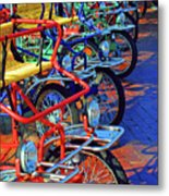 Color Of Bikes Metal Print