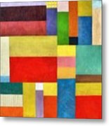 Color Panel Abstract With White Buttons Metal Print