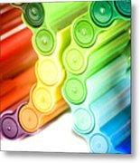 Color Pens 3 Metal Print
