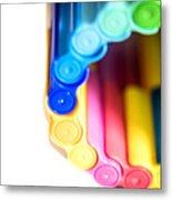 Color Pens 8 Metal Print