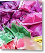 color pigments as an offering in the temple, Chennai, Tamil Nadu Metal Print