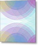 Color Semi Circle Background Horizontal Metal Print
