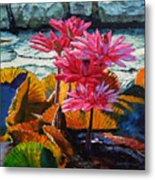 Color Texture And Light Metal Print