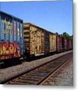 Color Train Metal Print