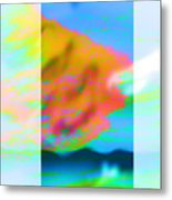 Color Wave Metal Print