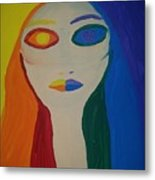 Color Wheel Opposites Metal Print