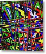 Color Works Abstract Metal Print
