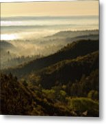 Colorado And Manitou Springs Valley In Fog Metal Print