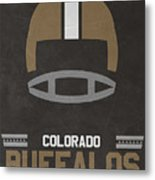 Colorado Buffalos Vintage Football Art Metal Print