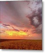 Colorado Eastern Plains Sunset Sky Metal Print