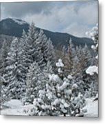 Colorado Foothills Winter Panorama Metal Print