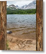 Colorado Love Window  Metal Print