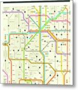 Colorado Map Metal Print
