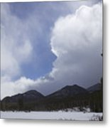 Colorado Mountain Clouds Metal Print