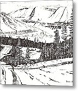 Colorado Mountain Foothills Metal Print