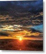 Colorado Plains Sunset Metal Print