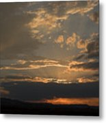 Colorado Radient Sunset Metal Print
